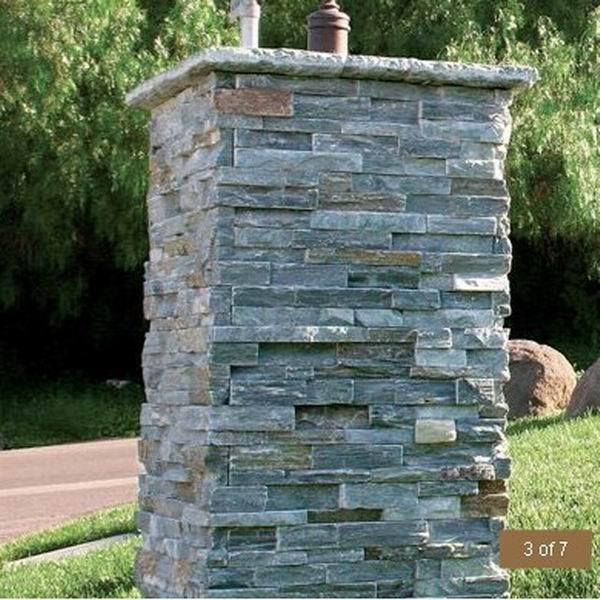 石英岩 ウォールパネル ラストグレー施工例