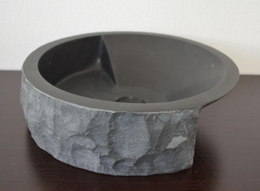 天然石 洗面ボウル 花崗岩 大黒