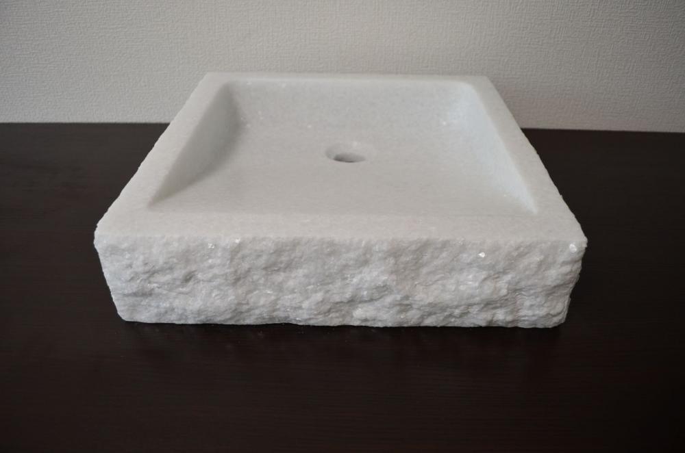 天然石 洗面ボウル クリスタルホワイト