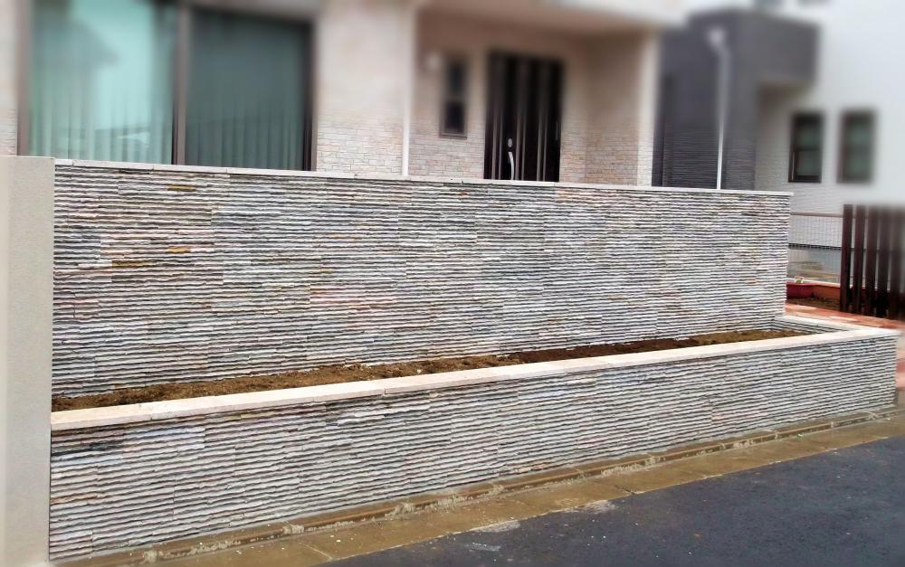 石英岩ウォールパネル スノーホワイト 施工例